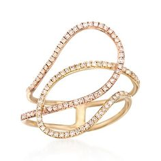 1.40 ct. t.w. Diamond Loop Ring in 14kt Two-Tone Gold