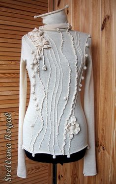 Inspiration only. Crochet and knit