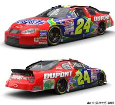 I'm not really one of the biggest Jeff Gordon fans out there, but that doesn't stop this from being a pretty awesome looking paint scheme. It was run at the Coke 600 back in 2000 and is recreated here for the Nascar Racing series of computer games. Done in Photoshop and imported into the game