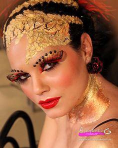 3º Premio Jesal Extetic 2013.                        Maquillaje y Peluquería: Aranzazu G.Make Up. Fotografía: José Luis Aracil. Modelo: Gemma García.