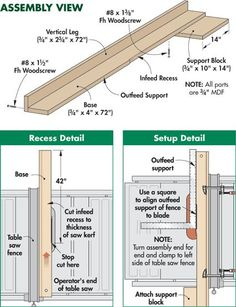 Jointer Jig Table Saw - Download Plans