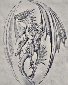 Dragon Tattoo Back, Small Dragon Tattoos, Chinese Dragon Tattoos, Dragon Tattoo Designs, Fantasy Drawings, Fantasy Art, Art Drawings, Alas Tattoo, Crab Art