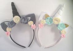 Banda unicornio establece, corona de flores - gemelos