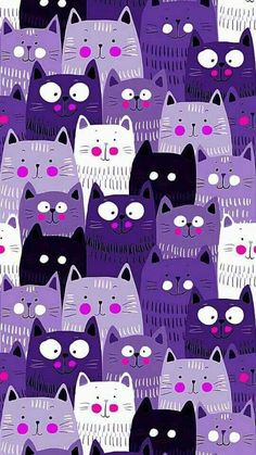 Kitten – Animal Wallpaper And iphone Tier Wallpaper, Cat Wallpaper, Animal Wallpaper, Iphone Wallpaper, Purple Wallpaper Phone, I Love Cats, Crazy Cats, Cool Cats, Purple Cat