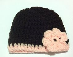 Crocheted Hat Girls Flower You can design your by HeathersHobbys, $8.00