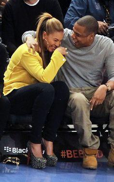 Mama Bey and Papa Jay enjoying a night out