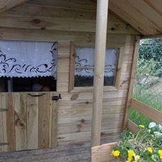 Rideaux anciens pour une cabane...