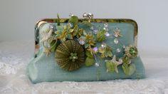 Beach Wedding / Bridal Handbag / Tropical by PetiteVintageBags, $70.00