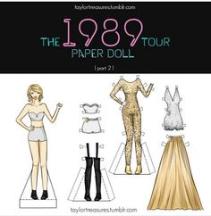 Taylor Swift paper doll #2 22 Taylor, All About Taylor Swift, Taylor Alison Swift, Swift Tour, The 1989 World Tour, Being Good, She Song, Her Music, Favorite Person