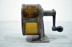 Um, I'm suddenly very dedicated to finding a fantastic industrial vintage pencil sharpener like this. Holy awesome.