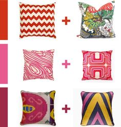Red series - How to mix & match patterns - blog pix