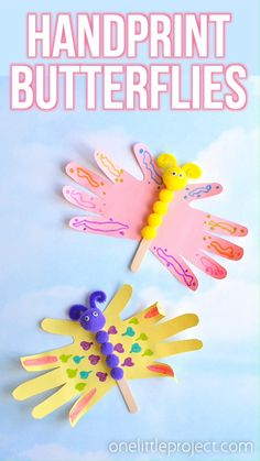 Handprint Butterfly Craft | Easy Hand Print Butterflies