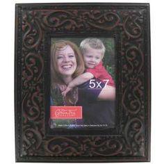 """Black 5"""" x 7"""" Embossed Tin Frame"""