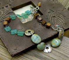 Jewelry - Necklace - Artisan - Earthy - Bohemian Chic - Beach Glass - Published Jewelry by YaY Jewelry