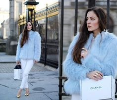 Get this look: http://lb.nu/look/7132754  More looks by Emilija Vaišnoraitė: http://lb.nu/fashionwhit  Items in this look:  Pull & Bear Faux Fur, H&M Jeans, Zara Golden Heels   #chic #elegant #street