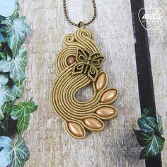Soutache Pendant, Soutache Necklace, Tassel Earrings, Pendant Necklace, Boho Jewelry, Handmade Jewelry, Sorority Crafts, Shibori, Beaded Embroidery