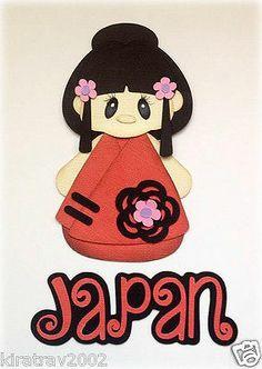 Made to Order International Beauty Japan Girl Set Paper Piecing by Kira | eBay