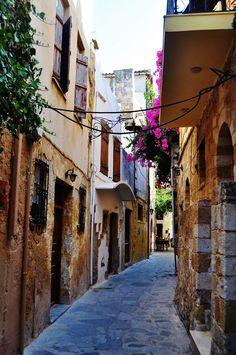 Streets in Hania, Crete, Greece