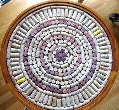 Wine Cork Craft, lazy susan - Sprinkled Nest