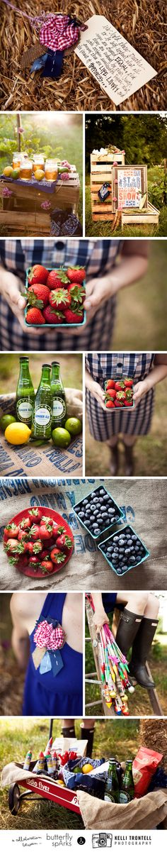 love the red wagon with burlap to serve drinks out of
