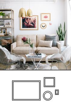 Gallery wall templates -- this makes it SO much easier to hang a gallery wall.