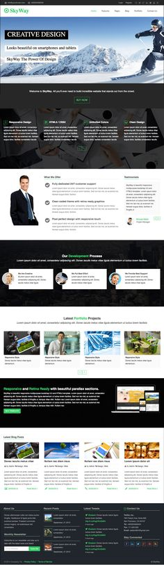 Skyway is an awesome free html5 template.