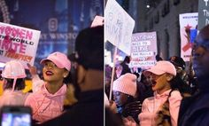 January 21: Rihanna protesting at the Women's March in NYC (Source)
