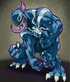 Stitchum, a Mashup of Stitch and Venom Comic Books Art, Comic Art, Book Art, Marvel Venom, Marvel Art, Disney Marvel, Disney Kunst, Disney Art, Venom Art