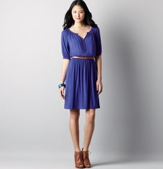 Especially the shoes paired with this Jersey dress