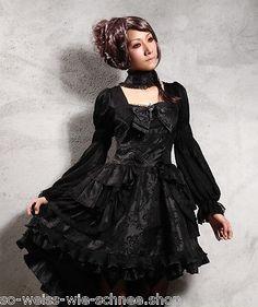 RQ-BL-Gothic-Choker-Petticoat-Kleid-Brosche-Victorian-Dress-Steampunk-WGT-21218