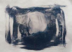 Cyanotype  Toned  24x32  Nude  Wallart  Dekor  von MSPhotographie #cyanotypie #women #print #nude #sensual #Cyanotype