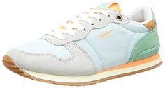Pepe Jeans London GABLE RETRO, Damen Sneakers, Mehrfarbig (514TEAL), 40 EU - http://on-line-kaufen.de/pepe-jeans/40-eu-pepe-jeans-gable-retro-damen-sneakers