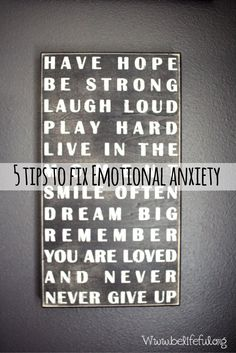 5 Tips and Tricks to fix Emotional Anxiety