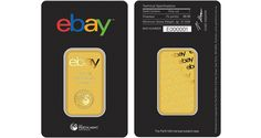 The gold bars are housed in individually sealed packages with serial numbers and specification information.