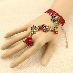 Fashion Slave Bracelet Vintage Rhinestone Bead Silver Gold Chain Flower Lacering   eBay