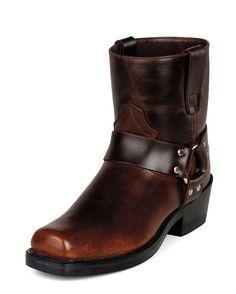 "Durango men's 7"" western short harness boots, rubbed brown ♥✤"