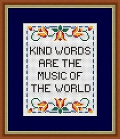Kind Words Sampler cross stitch pattern, free from Alita Designs