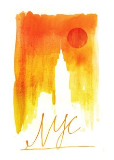 NYC Sunset Empire state building New York City by yeohghstudio, $30.00