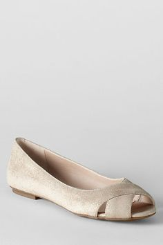 Women's Blythe Open Toe Ballet Shoes from Lands' End   I bought these two years ago & wear them All. The. Time.