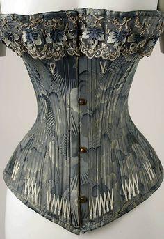 Corset Date: ca. 1878 Culture: American Medium: silk Accession Number: C.I.48.39.4