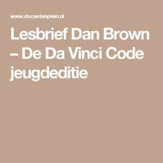 Lesbrief Dan Brown – De Da Vinci Code jeugdeditie