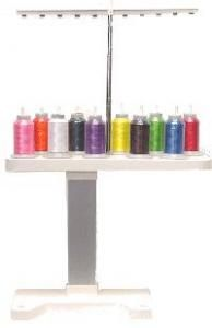 New, In Stock, Brother 10 Spool Thread Stand Rack and Base for up to 1100 Yard Cone & Cylinder Spools for Portable Embroidery Quilting Sewing Machines Embroidery Machines, Machine Embroidery Applique, Custom Embroidery, Sewing Machines, Custom Logos, Brother, Quilting, Yard, Christmas