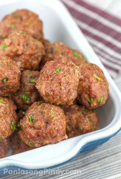 Meatballs are perfect to have for lunch. You can eat them with bread or sub -- and make meatball subs out of them, or you can enjoy them as a topping for spaghetti and other pasta dishes. Another good way to enjoy meatball is to simply sip them with your favorite sauce --like sweet and sour sauce, or ranch even.