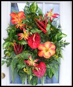 tropical flowers wreath!