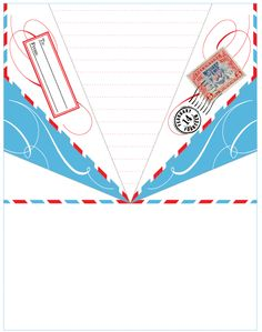 Paper Airplane Templates Printable  Minnie Birthday Party