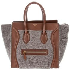 C?LINE 'Luggage medium' tote (8.475 BRL) ❤ liked on Polyvore featuring bags, handbags, tote bags, celine, borse, women, medium leather tote, brown tote, leather tote bags and zippered tote