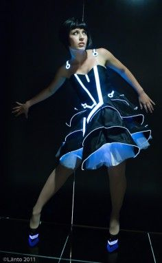 Electronic Luminescence EL Wired Dress by Evanette. via Etsy. one of ...