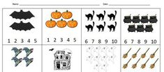 Here's a fun Halloween counting worksheet. Perfect for children who are still learning to write their numerals and know how to count to 10....