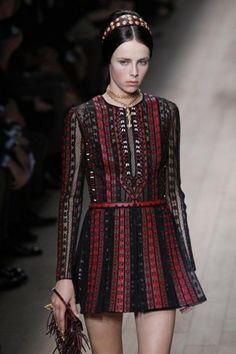 Vestito rosso e nero corto Valentino