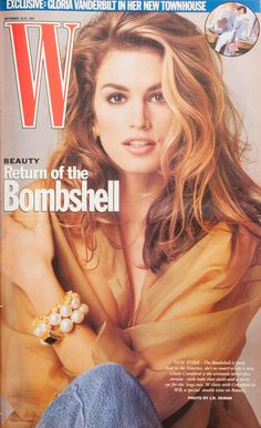 Cindy Crawford on the cover of W Magazine September 1991